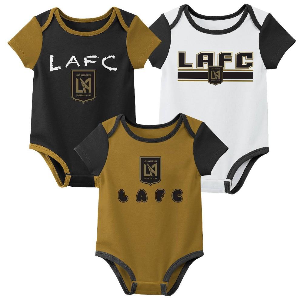 Mls Los Angeles Fc Baby 3pk Bodysuit Set 3m