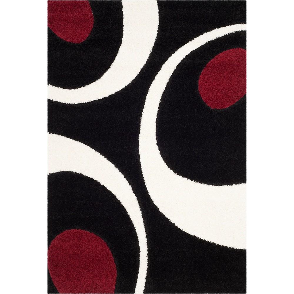 6'X9' Shapes Loomed Area Rug Black/Ivory - Safavieh