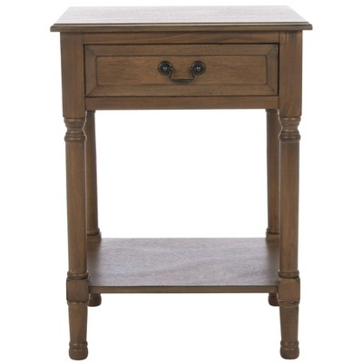 Whitney 1 Drawer Accent Table Brown - Safavieh
