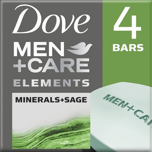 Dove Men + Care Minerals Sage Body and Face Bar - 4ct - 4oz - image 1 of 5
