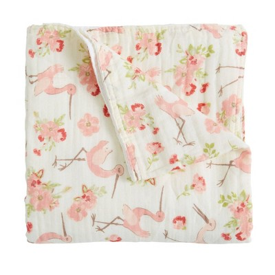 Patina Vie Muslin Quilt Blanket - Storks