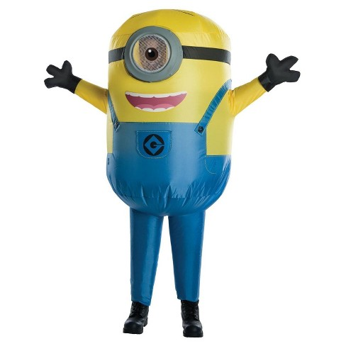 kids despicable me stuart minion inflatable costume one size fits