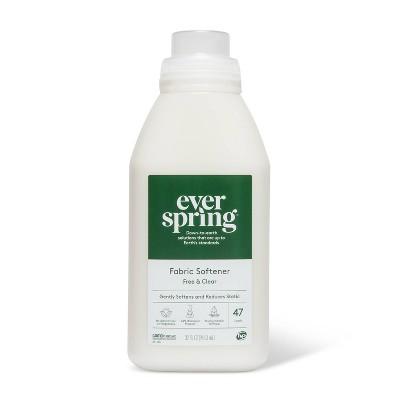 Fabric Softener - Free & Clear - 32 fl oz - Everspring™