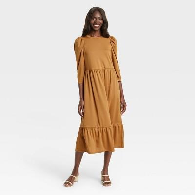 Women's Raglan Long Sleeve High Low Dress - Who What Wear™