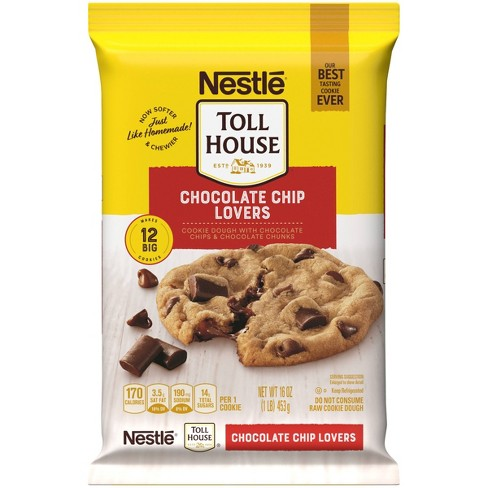 Nestle Tollhouse Ultimates Chocolate Chip Lovers Cookie Dough - 16oz/12ct - image 1 of 4