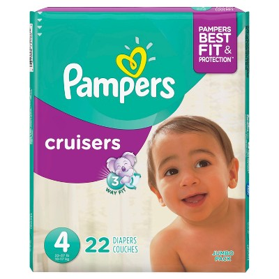 Pampers Cruisers Diapers Jumbo Pack - Size 4 (22ct)