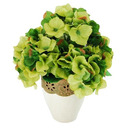 "Artificial Hydrangea Arrangement Green 14"" - LCG Florals - image 1 of 1"