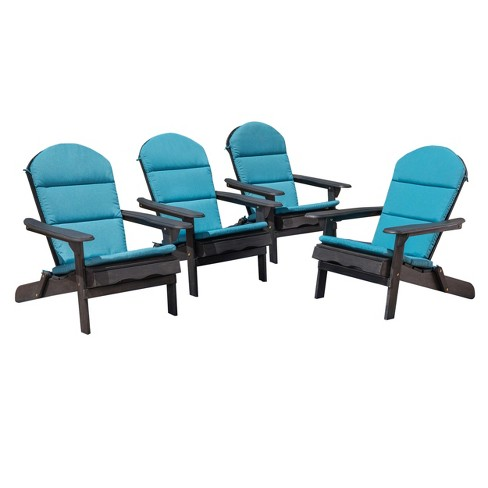 Malibu 4pk Acacia Adirondack Chairs - Christopher Knight Home - image 1 of 4