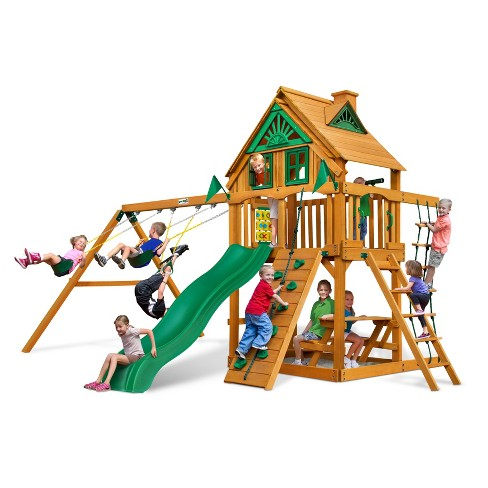 Gorilla Playsets Chateau Treehouse Swing Set with Amber Posts - image 1 of 3