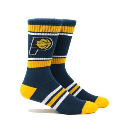 NBA Indiana Pacers Stripe Crew Socks - L