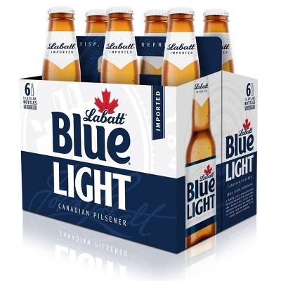 Labatt Blue Light Canadian Pilsener Beer - 6pk/12 fl oz Bottles