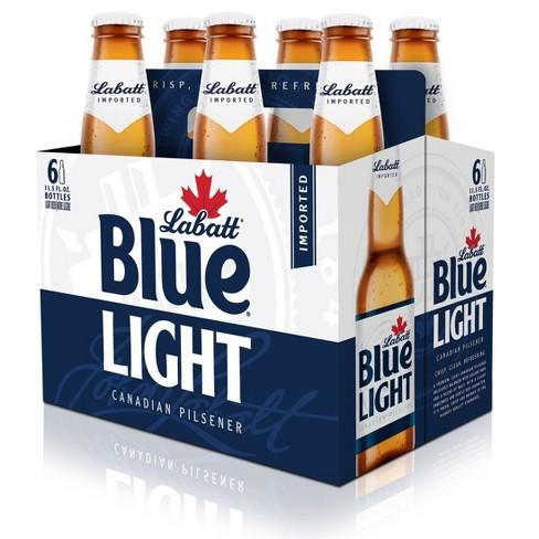 Labatt Blue Light Canadian Pilsner Beer - 6pk/12 fl oz Bottles - image 1 of 2