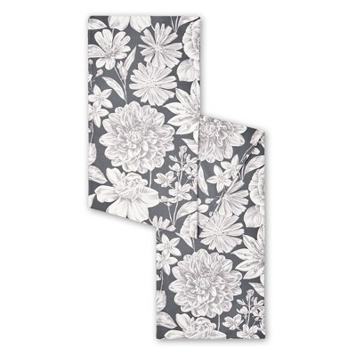 """18"""" x 13"""" Cotton Linear Floral Table Runner - Town & Country Living"""