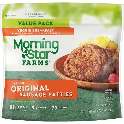 Morningstar Farms Original Sausage Patties Frozen - 16oz/12ct