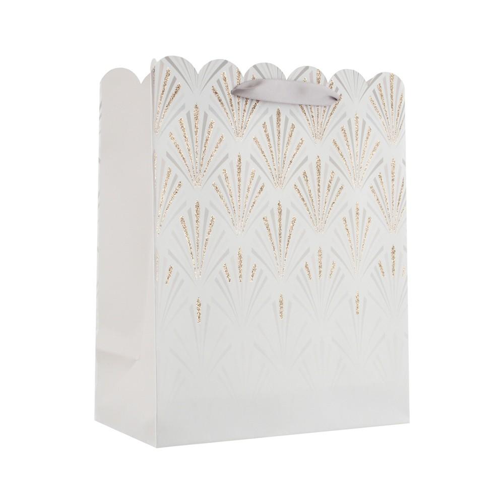 Elegant Scallop Cub Gift Bag - Spritz, Gold