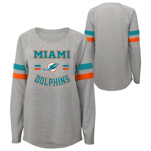 NFL Miami Dolphins Girls' Long Sleeve Fashion T-Shirt - image 1 of 3