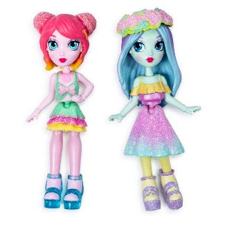 """Off The Hook Style BFFs Brooklyn and Alexis (Spring Dance) 4"""" Small Dolls with Mix and Match Fashions and Accessories"""