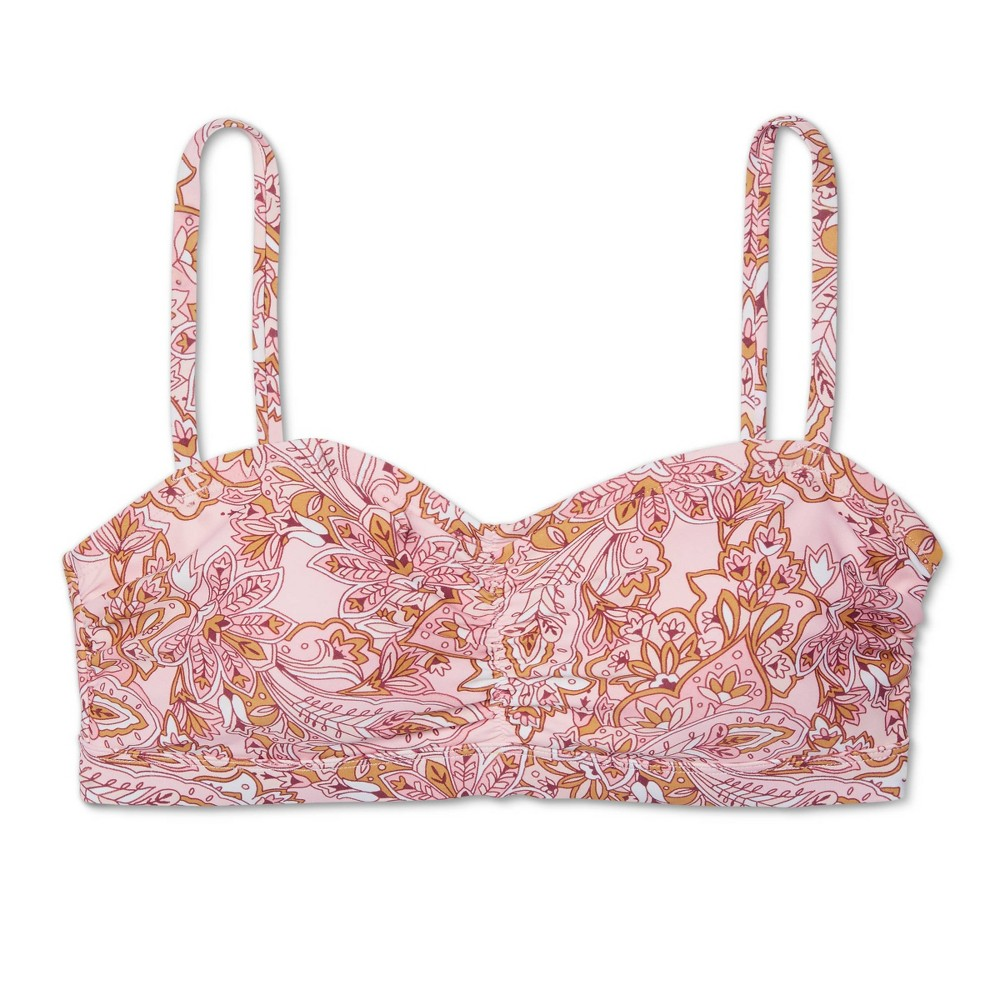 Women 39 S Post Mastectomy Shirred Bandeau Boho Garden Bikini Top Kona Sol 8482 Pink M
