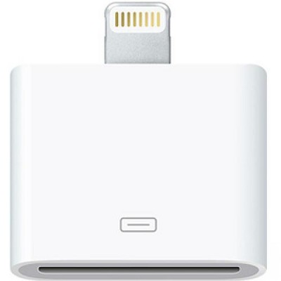 4XEM 8-Pin Lightning To 30-Pin Adapter for iPhones 5 5S 6 6S 6Plus 7 7Plus /iPods/iPads - 1 x Lightning Male Proprietary Connector