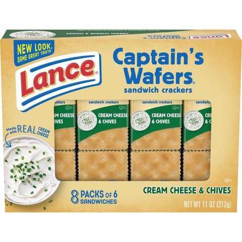 Lance Captain's Wafers Cream Cheese & Chives Cracker Sandwiches - 11oz / 8ct - image 1 of 4
