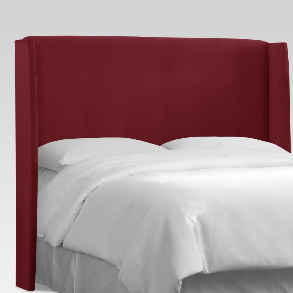 Full Antwerp Upholstered Wingback Headboard Velvet Berry - Project 62