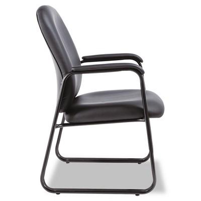 Alera® Genaro Series Guest Chair, Black Leather, Sled Base : Target