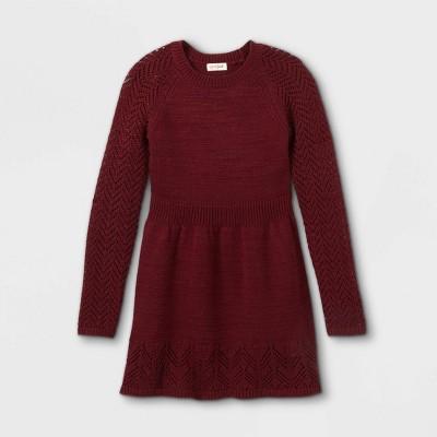 Girls' Crochet Sweater Dress - Cat & Jack™
