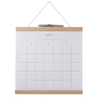 "14""x14"" Dry Erase Monthly Wall Calendar with Marker - Quartet"
