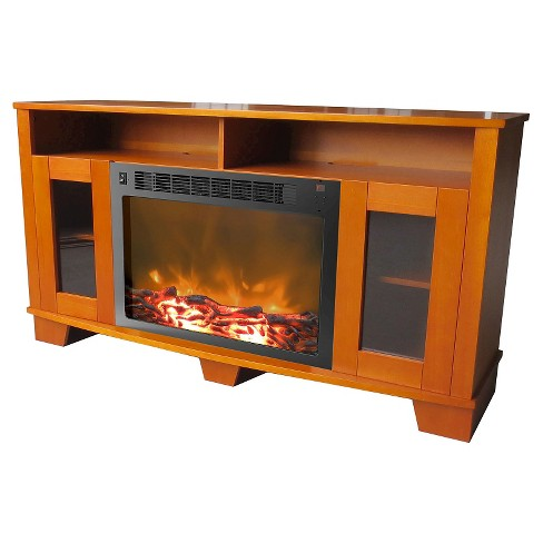 Cambridge CAM6022-1TEK Savona Fireplace Mantel with Electronic Fireplace Insert, Teak - image 1 of 4