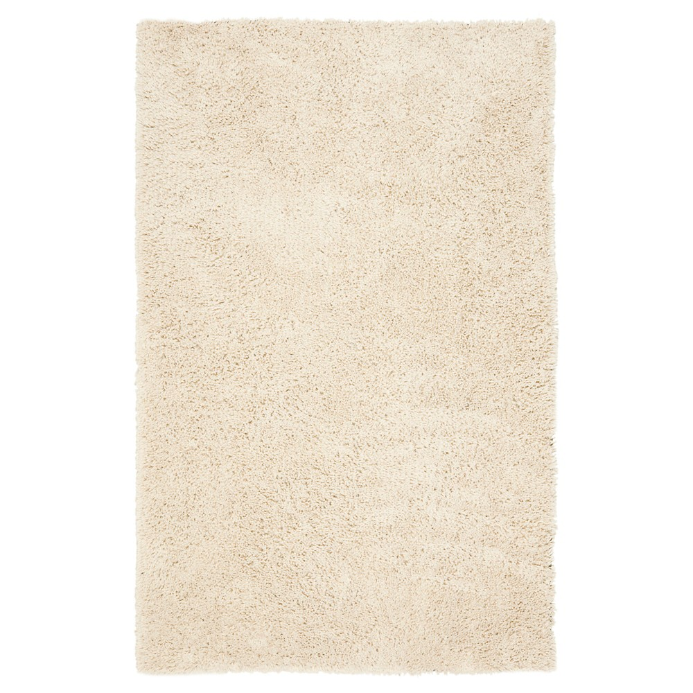 White Solid Tufted Area Rug - (8'6