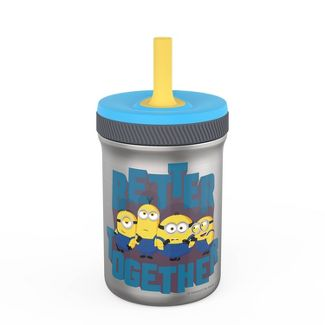 Universal Minions 12oz Stainless Steel Spill-Proof Straw Tumbler - Zak Designs