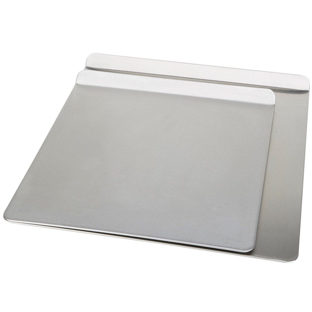 T-Fal 2pc Medium and Large Cookie Sheets Silver
