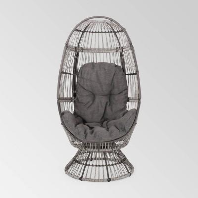 Pintan Wicker Swivel Egg Chair - Christopher Knight Home