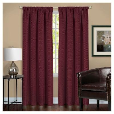 Harmony Blackout Window Curtain Panel Burgundy (52 x63 )- Achim