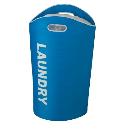 Honey-Can-Do Laundry Hamper with Drawstring- Blue