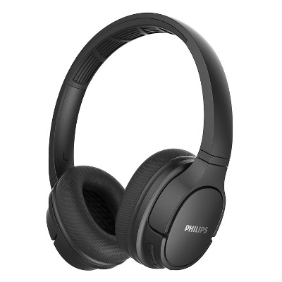 Philips ActionFit SH402 Wireless Bluetooth Headphones, IPX4 Splash-Resistance, Up to 20+ Hours of Play time, Echo Cancellation, Quick Charge, Smart Pairing and Cooling Earcups, Black (TASH402BK)