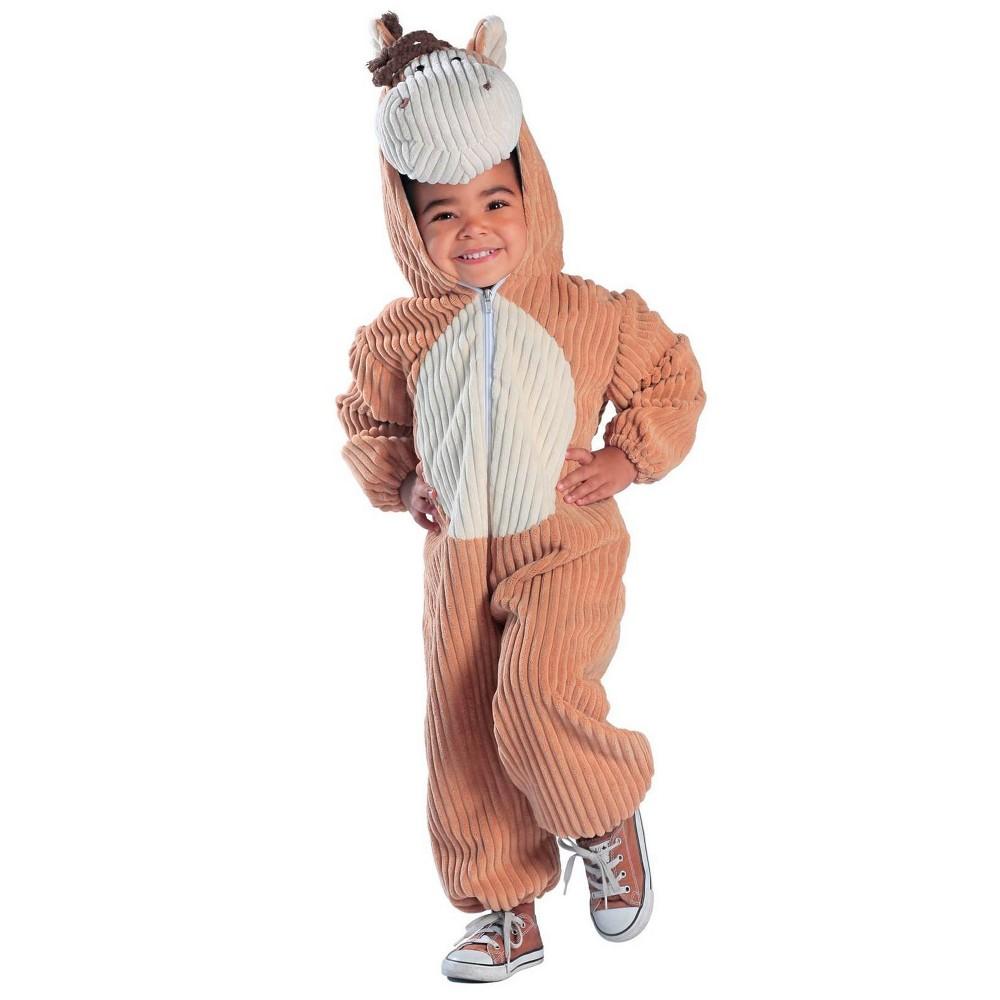 Image of Halloween Baby Corduroy Horse Costume 6-12M, Adult Unisex, MultiColored