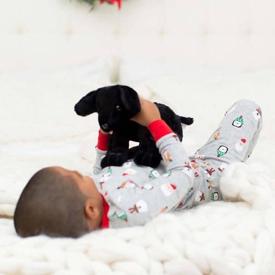 Melissa & Doug Benson Black Lab - Stuffed Animal Puppy Dog image number null