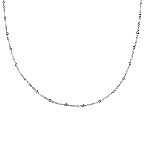"Women's Singapore Chain with 2mm Beads in Sterling Silver (18"") - image 1 of 1"