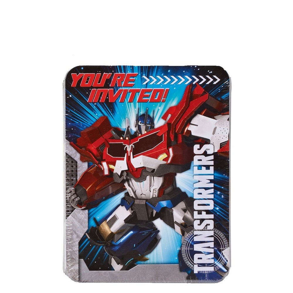 8ct Transformers Invite And Thank-You Combo Pack