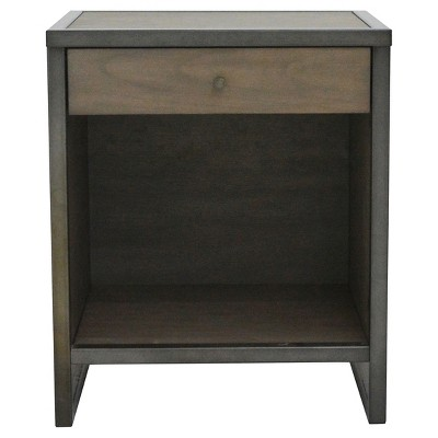 Mason End Table   Pebble Gray And Cocoa Bronze   222 Fifth