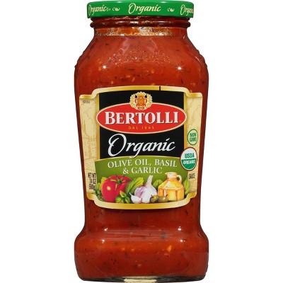 Bertolli Organic Olive Oil, Basil & Garlic Pasta Sauce - 24oz