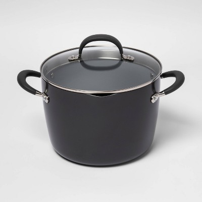 8qt Ceramic Non-Stick Coated Aluminum Stock Pot with Lid - Made By Design™