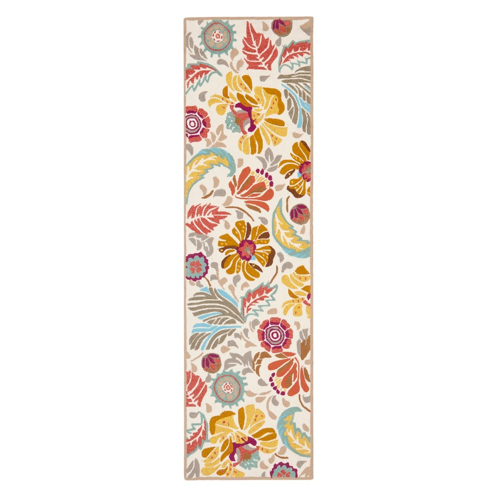 23X6 Floral Runner Ivory/Gray - Safavieh Top