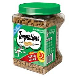 Temptations Classic Treats for Cats Seafood Medley Flavor