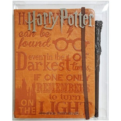 Innovative Designs Harry Potter Faux Leather Journal w/ Wand Pen