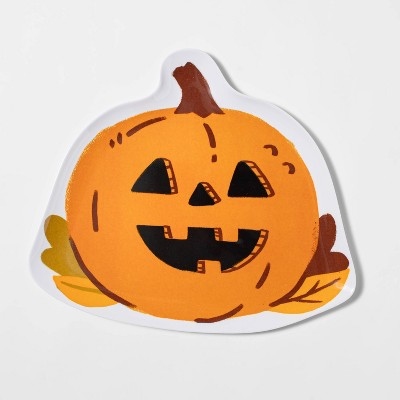 "10"" Melamine Figural Pumpkin Dinner Plate - Hyde & EEK! Boutique™"
