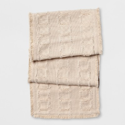 72 x14  Cut Squares Table Runner Neutral - Project 62™
