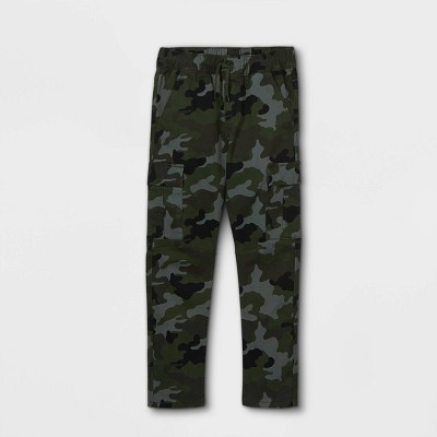 Boys' Stretch Pull-On Cargo Jogger Fit Pants - Cat & Jack™