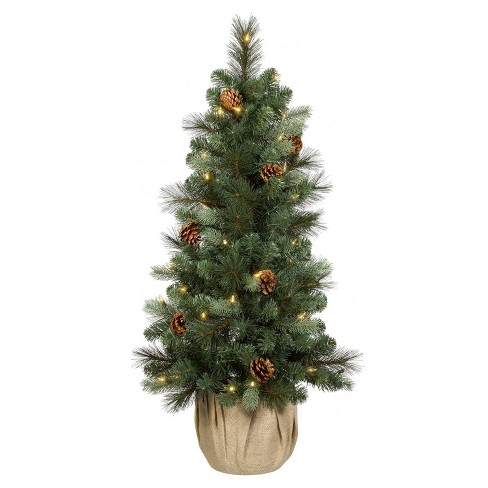 Potted Christmas Tree.Philips 3 5ft Pre Lit Slim Artificial Christmas Tree Potted Douglas Fir Clear Led Warm White Lights